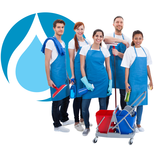 Janitorial team footer image